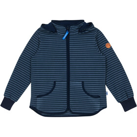 Finkid Tonttu Striped Fleece Jacket Barn blue mirage/navy